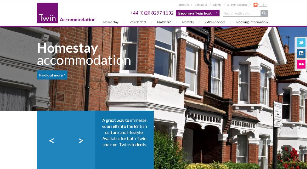 New Twin Accommodation Website